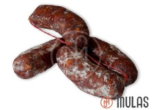 Bellota type spicy Iberian long sausage from Alberca
