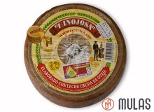 Semi-cured cheese from the region of Hinojosa. Small.